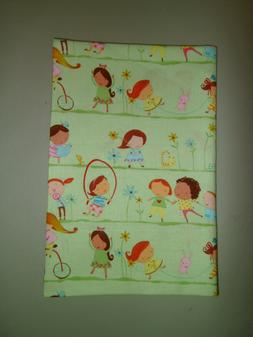 1-Little Girls Playing Travel Size Pillow Pillowcase 12 x 18