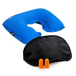 3 in 1 Handy Travel Kit, Inflatable Neck Pillow for Sleepin
