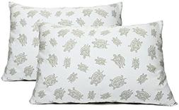 2 Toddler or Travel Pillowcases in Organic Cotton to Fit 13
