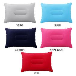 2018 Travel Air Inflatable Pillow Folding Double Sided Flock