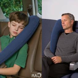 2PACK Blue Inflatable Travel Comfortable Pillow for Airplane