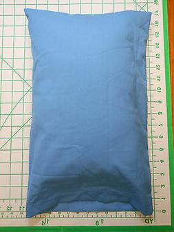 2 piece set: 1 MED. BLUE sm. Pillow Case with 1 custom made