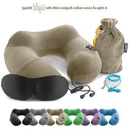 3in1 - TRAVEL NECK PILLOW with an excellent 3D SLEEP MASK, 1