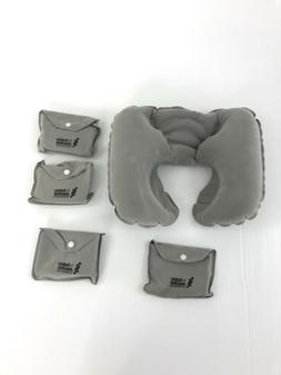 4 Pack Inflatable Neck Pillow Travel Portable Cushion Head R