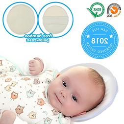 "8.6"" Baby Pillow Infant Head Neck Support to Prevent Flat He"