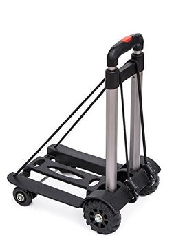 Anleolife Folding Carts with 4 Wheels Grocery Travel Dolly B