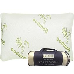 Bamboo Pillow Memory Foam - Stay Cool Removable Cover with Z