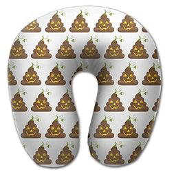 Create Magic - Halloween Poop Emojis U-Shaped Travel Pillow,