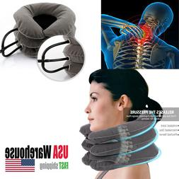 Inflatable Neck Pillow Travel Cervical Traction Device Insta