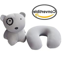 PackingPup - Cute Puppy Microbead Pillow - Convertible Trave