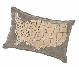 Primitives by Kathy Canvas Patched Throw Pillow, 10 x 15-Inc