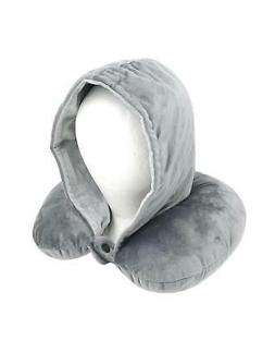 Adults Luxury Super Soft Feel Hooded Travel Pillow Plane Gif