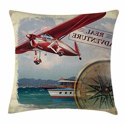 Ambesonne Adventure Throw Pillow Cushion Cover, Real Adventu