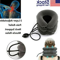 air traction inflatable cervical neck head pain