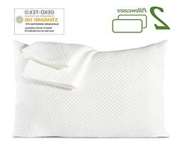 Queen Standard Size Pillow Cases Set of 2 Pillowcases Soft D