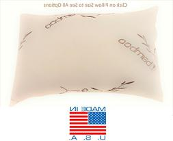 Bamboo Shredded Memory Foam Pillow,Made In USA,Queen,King,St