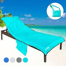 YOULERBU Beach Chair Cover with Pillow Breathable Sponge Thi