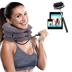 Cervical Neck Traction Device Brace - Provides Spine Alignme