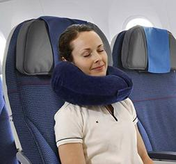 TravelMate Memory Foam Neck Pillow  - Chin & Side Supporting