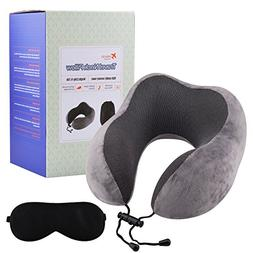 Meedo Comfort 100% Pure Memory Foam Neck Pillow Airplane Tra