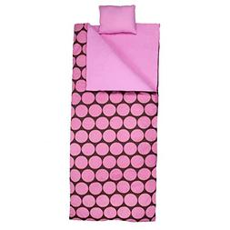 Wildkin Compact Bedding Nap Mat Big Dot Pink Sleeping Bag Pi