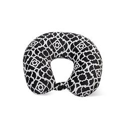 World's Best Cushion Soft Microfiber Neck Pillow, Trellis Bl