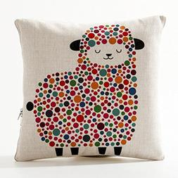 Cute Animals Print Throw Pillows Within a 110 X 150cm Blanke