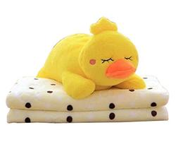 Cute Cartoon 2 In 1 Blanket Cushion Pillow, Perfect for Wint