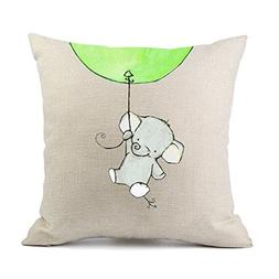 Redland Art Cute Elephant Travel by Balloon Flying Pattern C