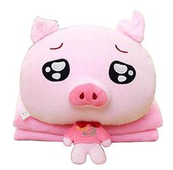 Cute Little Pig 3 In 1 Blanket Cushion Pillow, Perfect for W