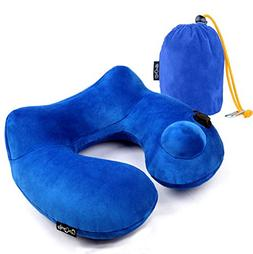 Daydreamer Inflatable Neck Travel Pillow - Luxuriously Soft
