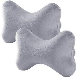 Bookishbunny 2pk Dog Bone Shaped Travel Neck Pillows Memory