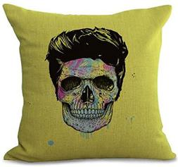 Europe And The United States Skull Series Cotton Linen Pillo