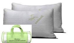 Luxury Firm Organic Comfort Bamboo Memory Foam Pillow - Set