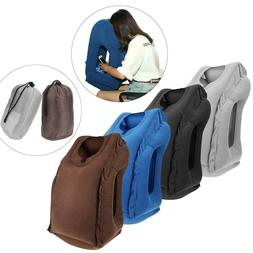 Folding Inflatable Pillow Body Back Support Travel Pillow Tr