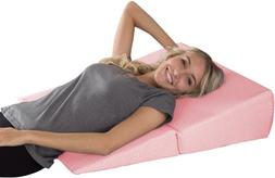 Lavish Home Folding Wedge Pillow-Memory Foam Pillow with Bam