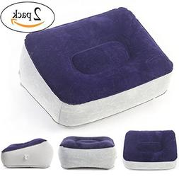 Travel Foot Rest Pillow - Leg Up Footrest for Travel Office