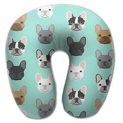 French Bulldog Portable Cartoon Neck Pillow U-shaped For Air