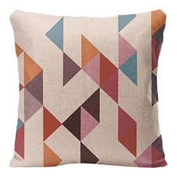 Geometry Pattern Cushion Cover Decorative Pillow For Sofa Ca