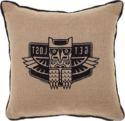 Get Lost Owl Totem Burlap Pillow from Sourpuss Brand