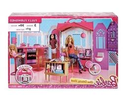 Barbie Glam Getaway House Dollhouse Play Set 20+ Pieces