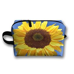 RONG FA Gorgeous Huge Golden Yellow Sunflower Portable Trave