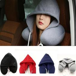 Hooded U Pillow Cushions Travel Pillows Body Neck Napping Pi