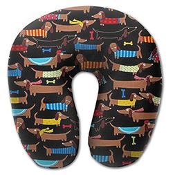 Hot Sale I Love My Dog Dachshunds U Neck Pillow Compact Memo