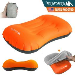 Inflatable Camping Pillow Portable Ultra Light Outdoor Trave