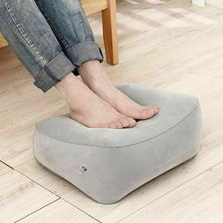 Inflatable Foot Rest Pillow Cushion Air Travel Office Home L