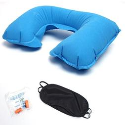 SUJING Inflatable Travel Neck Pillow Traveling Pillow Neck S