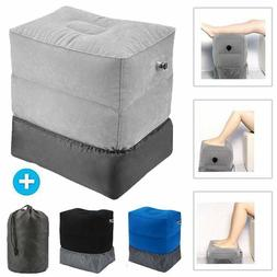 Inflatable Office Travel Footrest Leg Foot Relax Cushion Pil