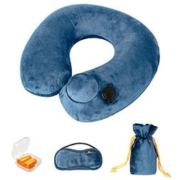 Doormoon Inflatable Travel Pillow, U Shape Neck Pillow Suita