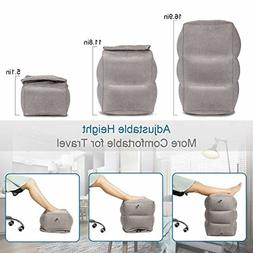 simptech Inflatable Travel Foot Rest Pillow Leg Rest Airplan